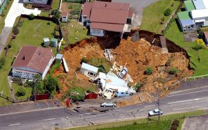 House Collapsed into Sinkhole