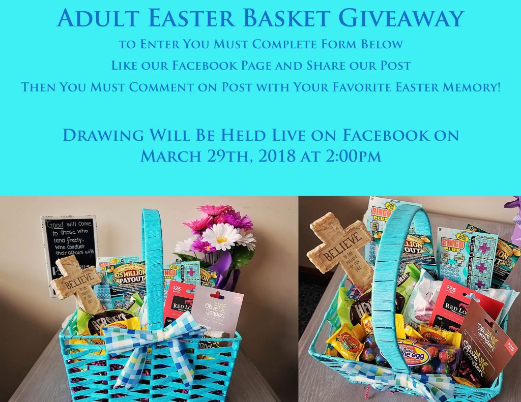 Enter to win an adult easter basket donahue stangle brown step 1 of 2 negle Image collections